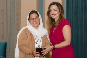 Zakia Baig receiving VMC Award